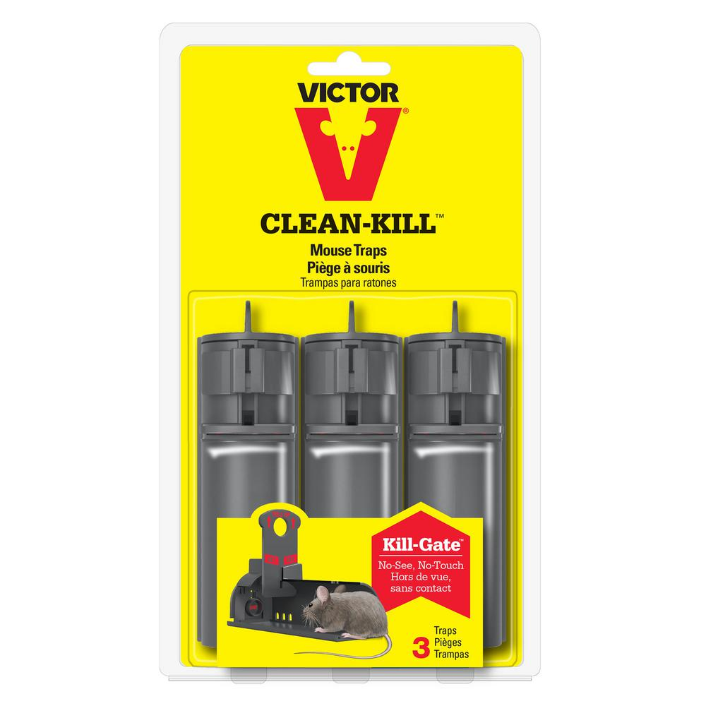 Victor Clean Kill Mouse Trap 3 Pack