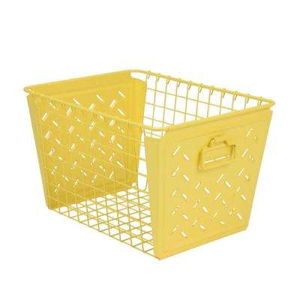 Macklin Medium Metal Basket in Yellow