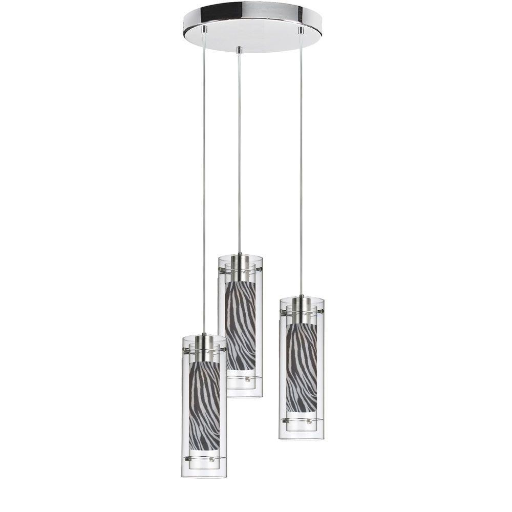 Catherine 3-Light Polished Chrome Multi-Light Pendant