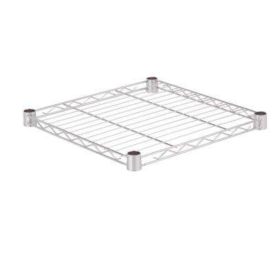 18 in. x 18 in. 250 lbs. Steel Shelf in Chrome