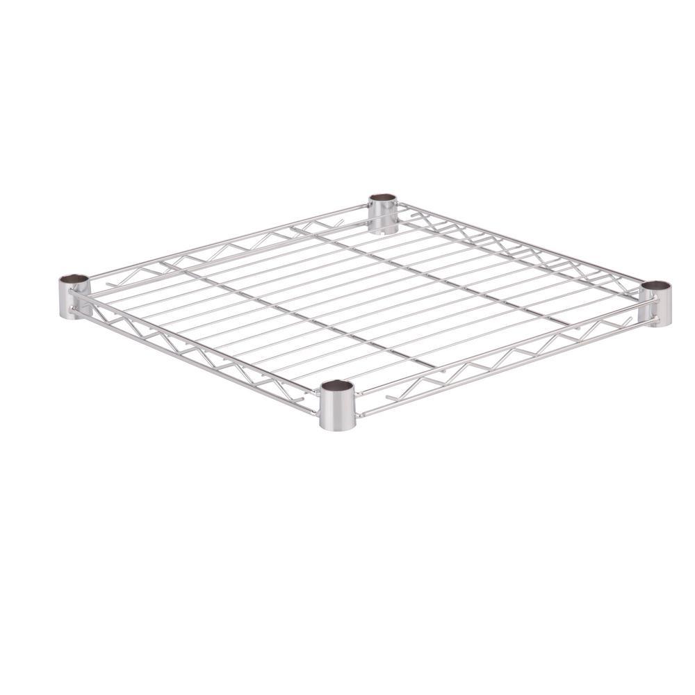 18 in. x 18 in. 250 lbs. Steel Shelf in Chrome