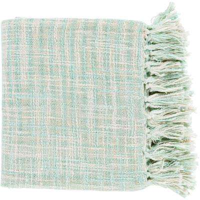 Phoebe Sea Foam Cotton Throw