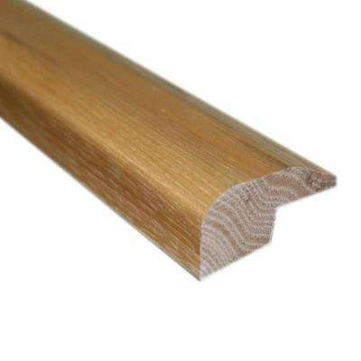 Red Oak Natural 22/25 in. Thick x 2 in. Wide x 78 in. Length Hardwood Carpet Reducer/Baby T-Molding