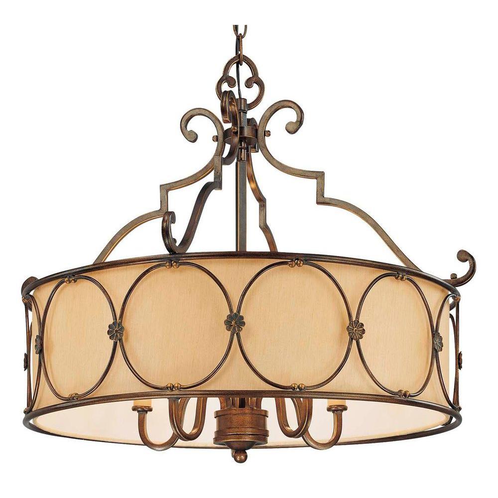 Atterbury 5-Light Deep Flax Bronze Pendant