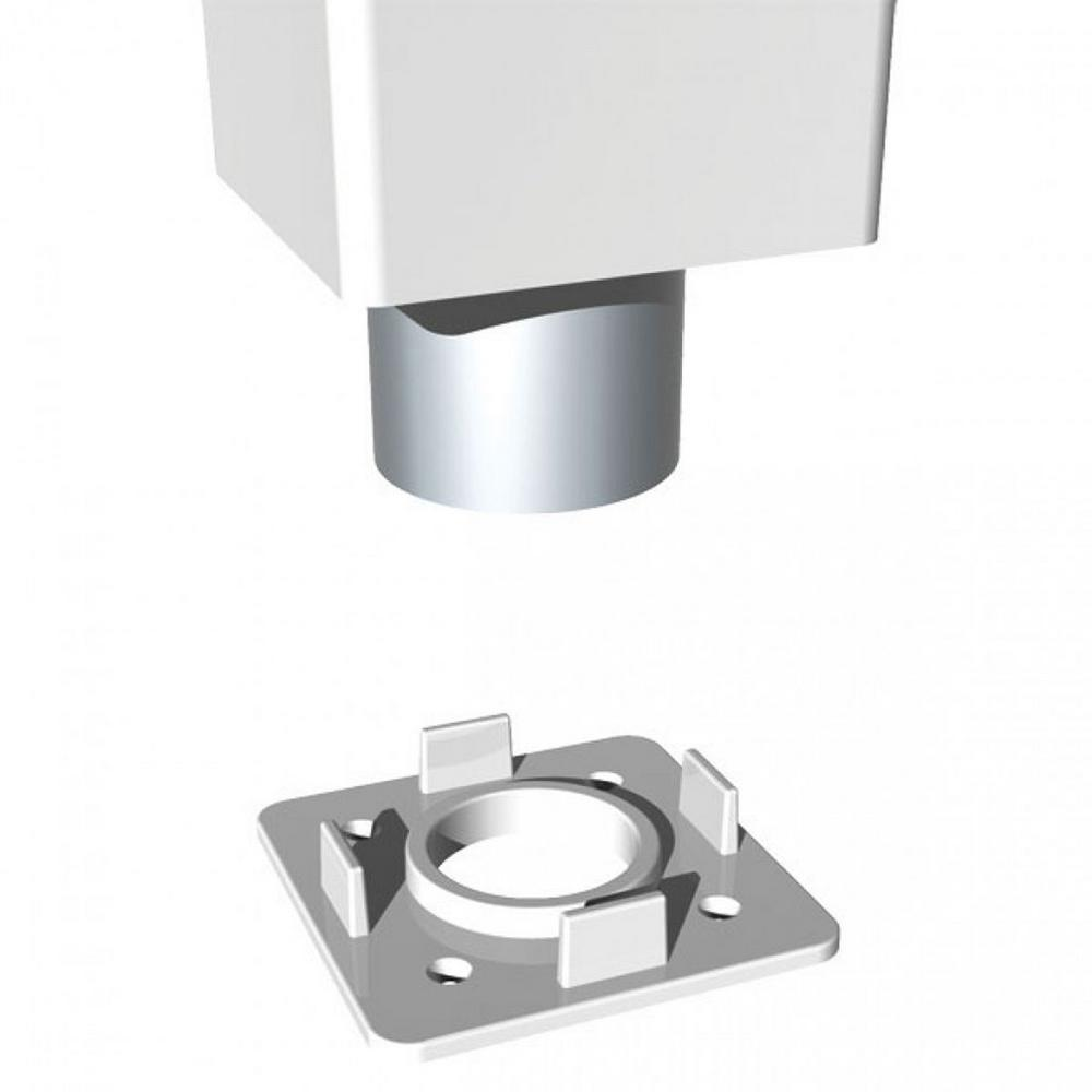 RDI 4 in. White Standard Base Kit for Porch Post