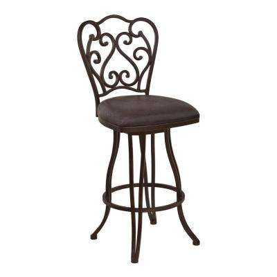 Lawrence 26 in. Brown Bar Stool