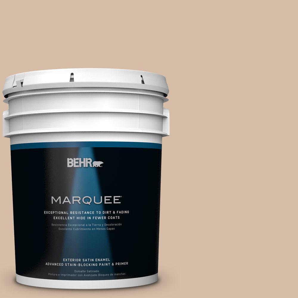 BEHR MARQUEE 5-gal. #HDC-MD-12 Tiramisu Cream Satin Enamel Exterior Paint