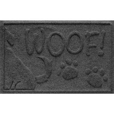 Charcoal 18 in. x 28 in. Wag the Dog Polypropylene Pet Mat