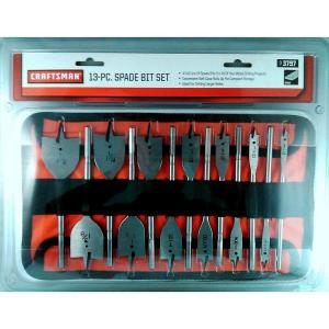 Craftsman High Speed Steel Spade Drill Bit Set (13-Piece) by Craftsman