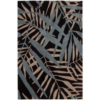 Contour Black 5 ft. x 7 ft. 6 in. Area Rug