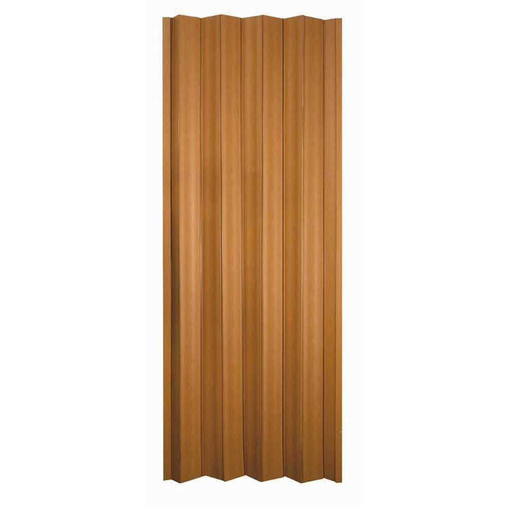Vinyl Accordion Door Folding Slide Closet Room Fruitwood