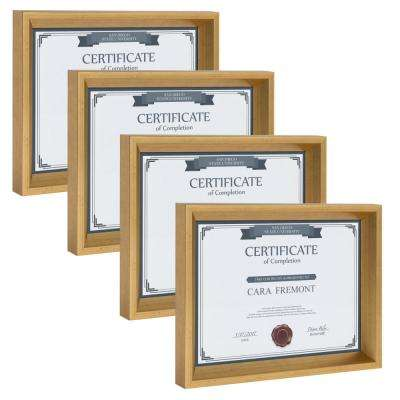 Calter 8.5 in. x 11 Gold Picture Frame (Set of 4)