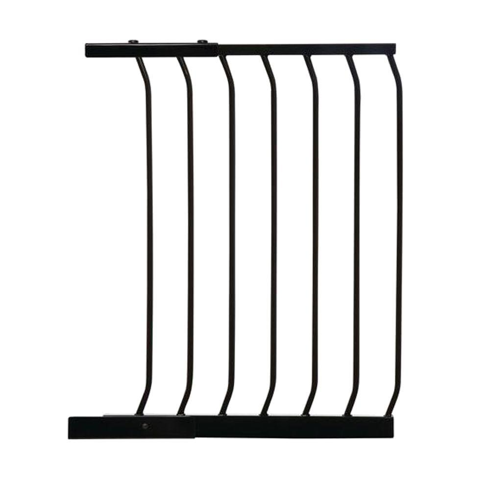 21 in. Gate Extension for Black Chelsea Standard Height Child Safety