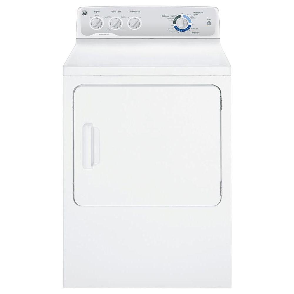 GE 6.0 cu. ft. DuraDrum Electric Dryer in White
