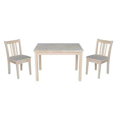 Jorden Ready to Finish 3-Piece Kid's Table and Chair Set