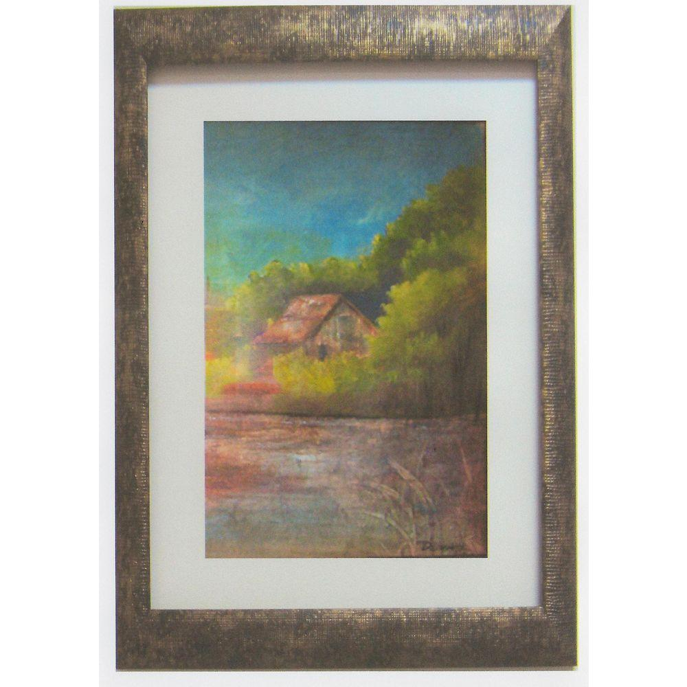 null 21 in. x 28.5 in. Country Cottage by David Linanetz Framed Wall Art
