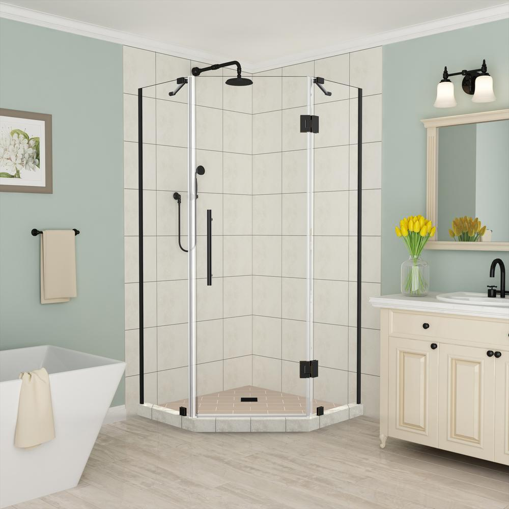 Merrick 34 In. To 34.25 In. X 72 In. Frameless Hinged