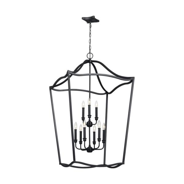 Yarmouth 9-Light Antique Forged Iron Chandelier