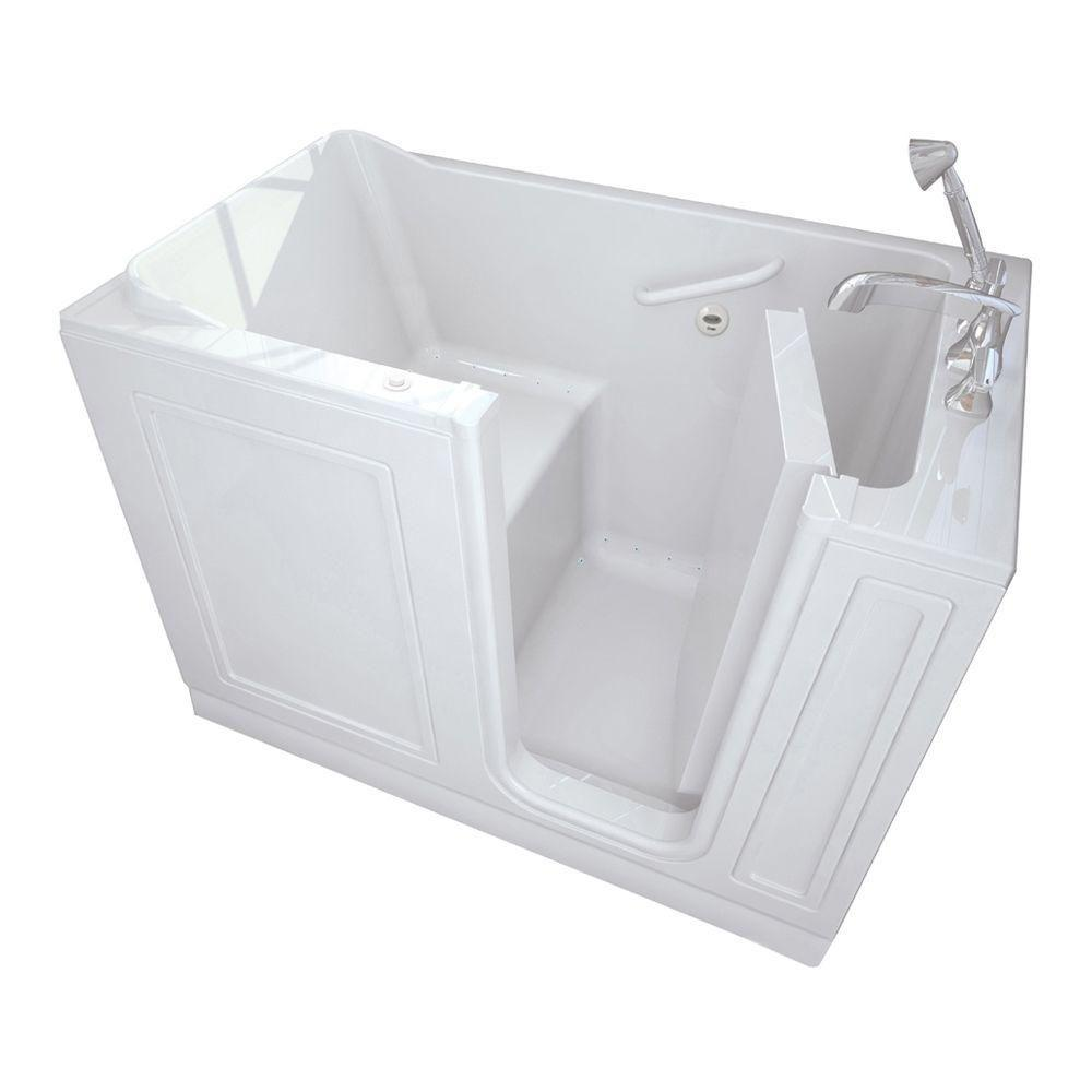 American Standard Acrylic Standard Series 51 in. x 30 in. Walk-In Air Bath Tub with Quick Drain in White