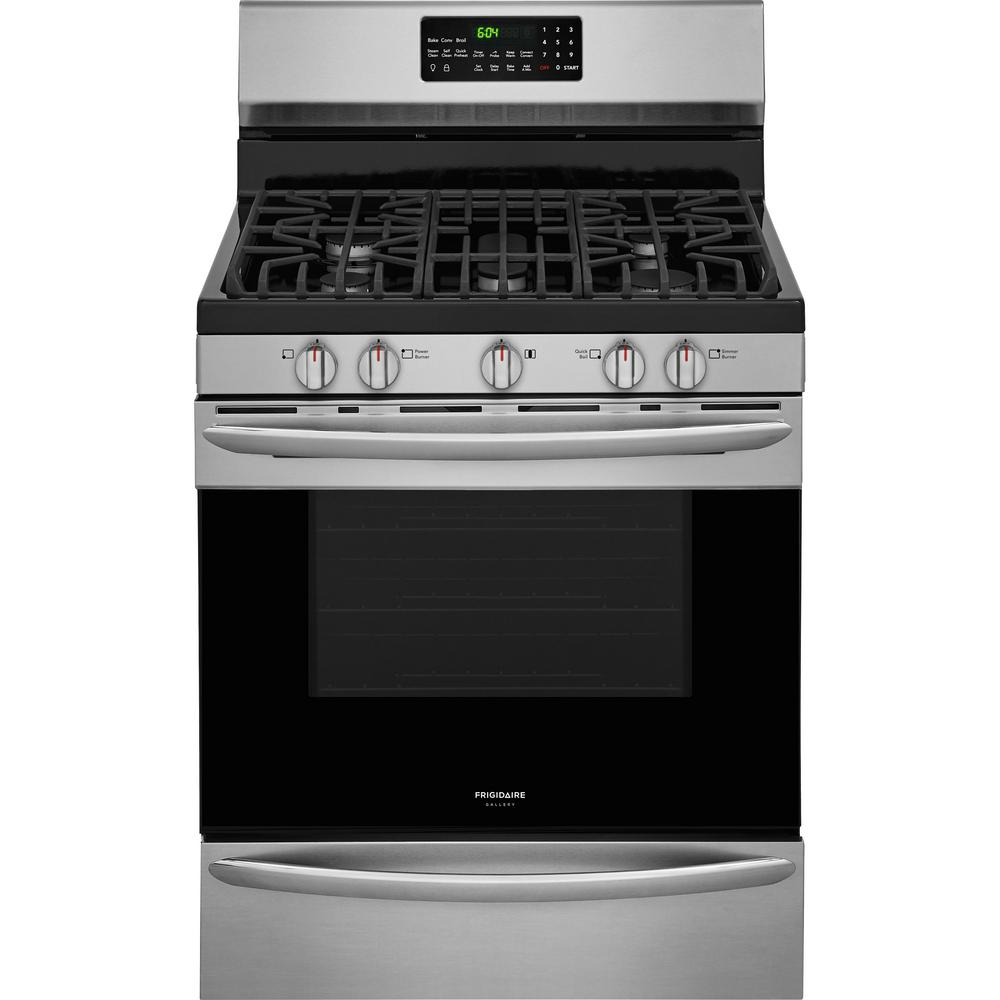 Frigidaire Gallery 5 0 Cu Ft Gas Range With Convection Self Cleaning Oven In