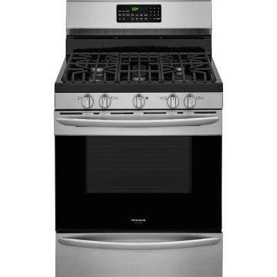 5.0 cu. ft. Gas Range with Convection Self-Cleaning Oven in Stainless Steel