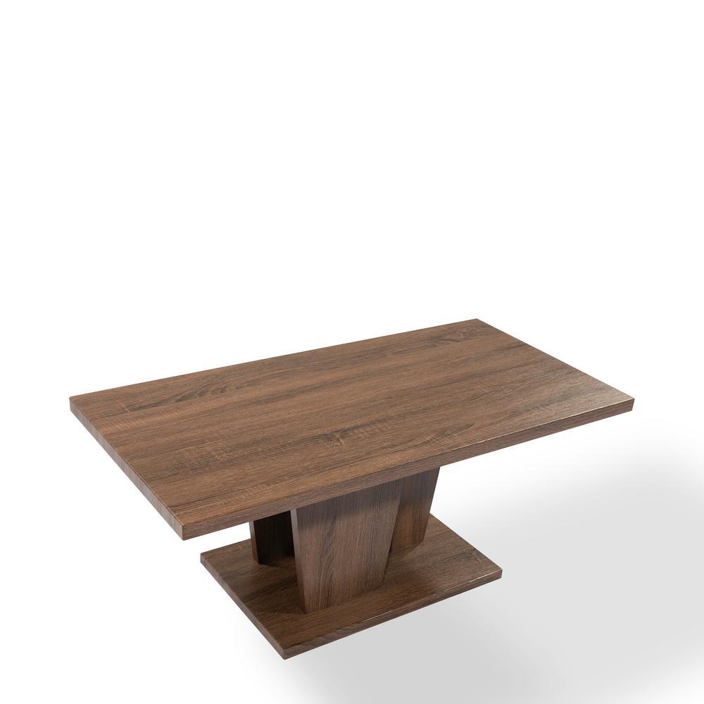 Maya Coffee Table.Ottomanson Maya Brown Coffee Table Ct901 The Home Depot