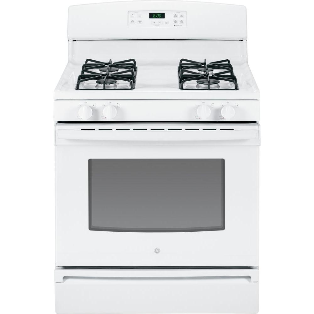 GE 4.8 cu. ft. Gas Range in White