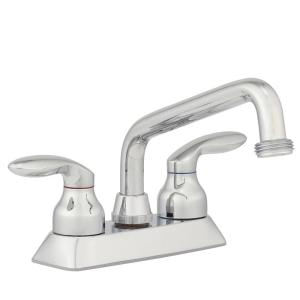 Kohler Coralais 4 inch 2-Handle Low-Arc Utility Sink Faucet in Polished Chrome with Threaded Spout by KOHLER