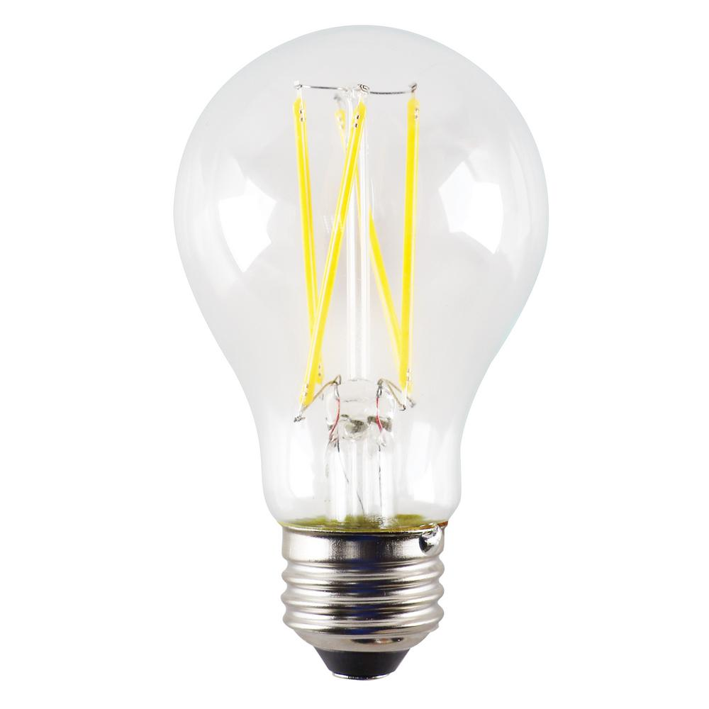 Halco Lighting Technologies 60 Watt Equivalent 7 Watt A19 Dimmable Led Clear Filament Antique Vintage Light Bulb 3000k 85042