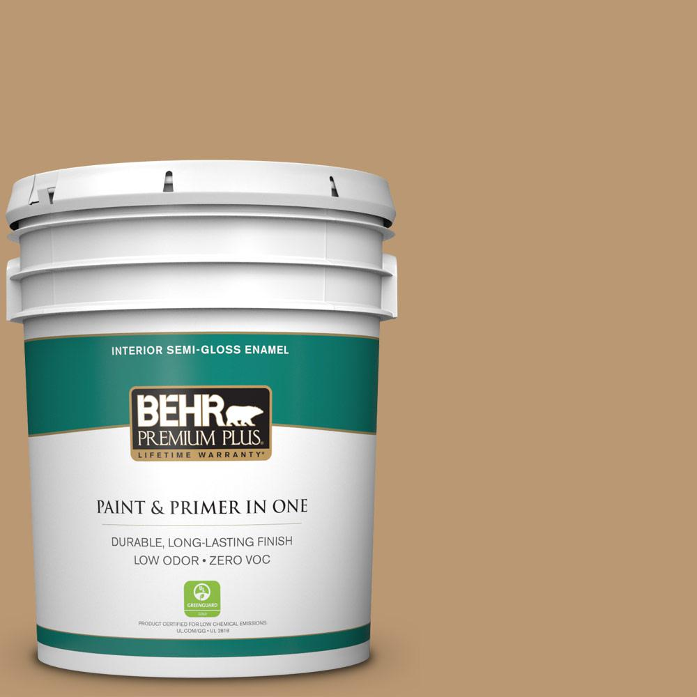 BEHR Premium Plus 5-gal. #N280-5 Antique Treasure Semi-Gloss Enamel Interior Paint