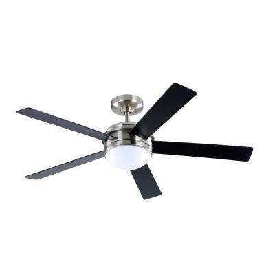 52 in. Audrino  Integrated LED Indoor Brushed Nickel DC Ceiling Fan with Light Kit and Remote Control