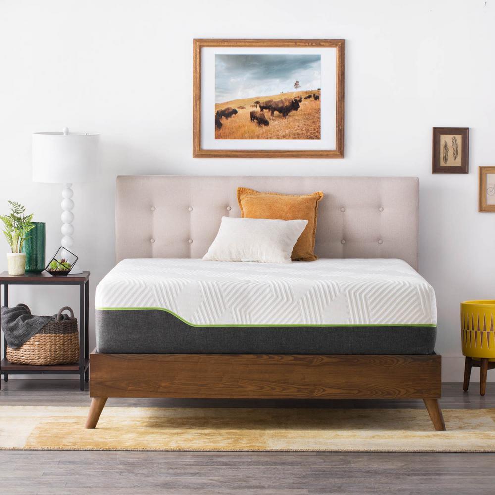 lucid 12 in queen premium support memory foam hybrid mattress lubb12qq70lh the home depot. Black Bedroom Furniture Sets. Home Design Ideas