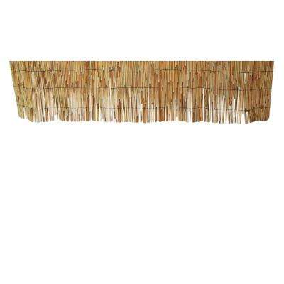 1 ft. H x 14 ft. L Wood Reed Fence Woven with Black Nylon Coated Wire