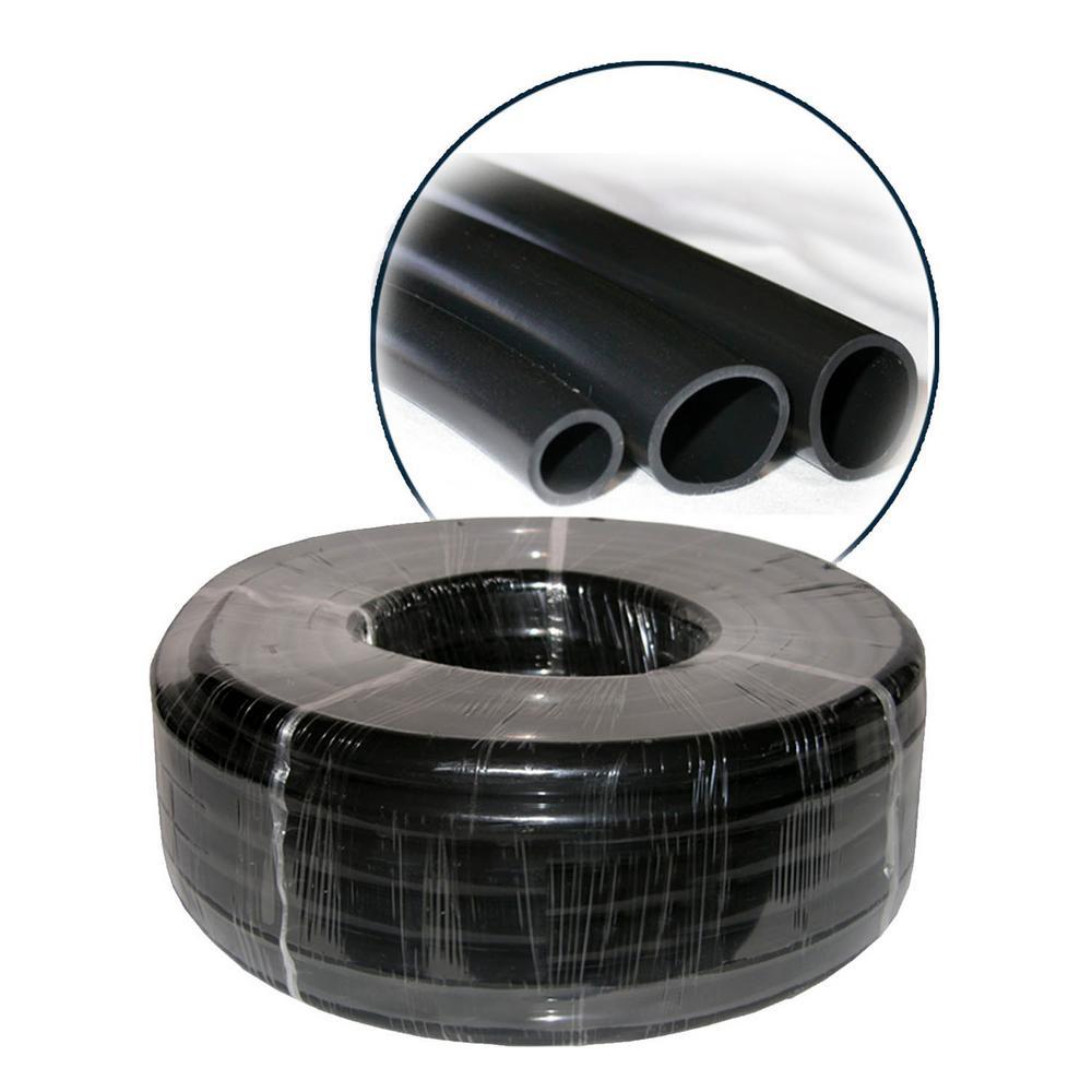 1 in. I.D. x 1-1/4 in. O.D. x 1/8 in. Wall PVC Black Tubing x 100 ft. Coil