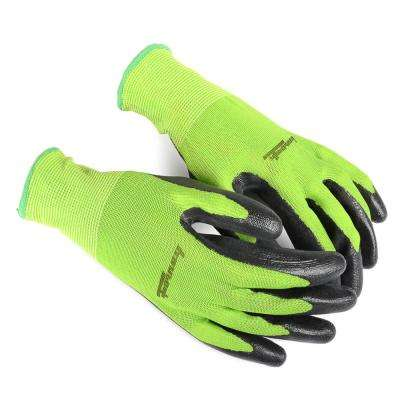 Premium Nitrile Coated String Knit Gloves (Size M)