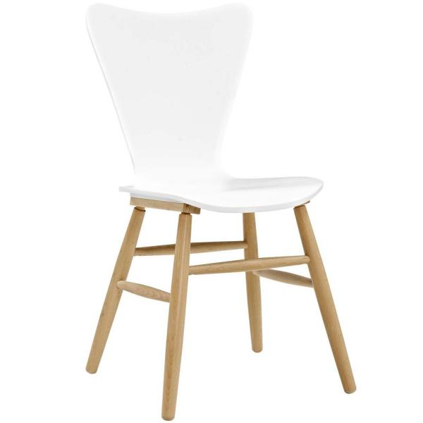 MODWAY Cascade White Wood Dining Chair EEI-2672-WHI