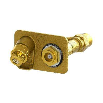 3/4 in. FPT x Close Coupled Freezeless Brass Anti-Siphon Wall Hydrant