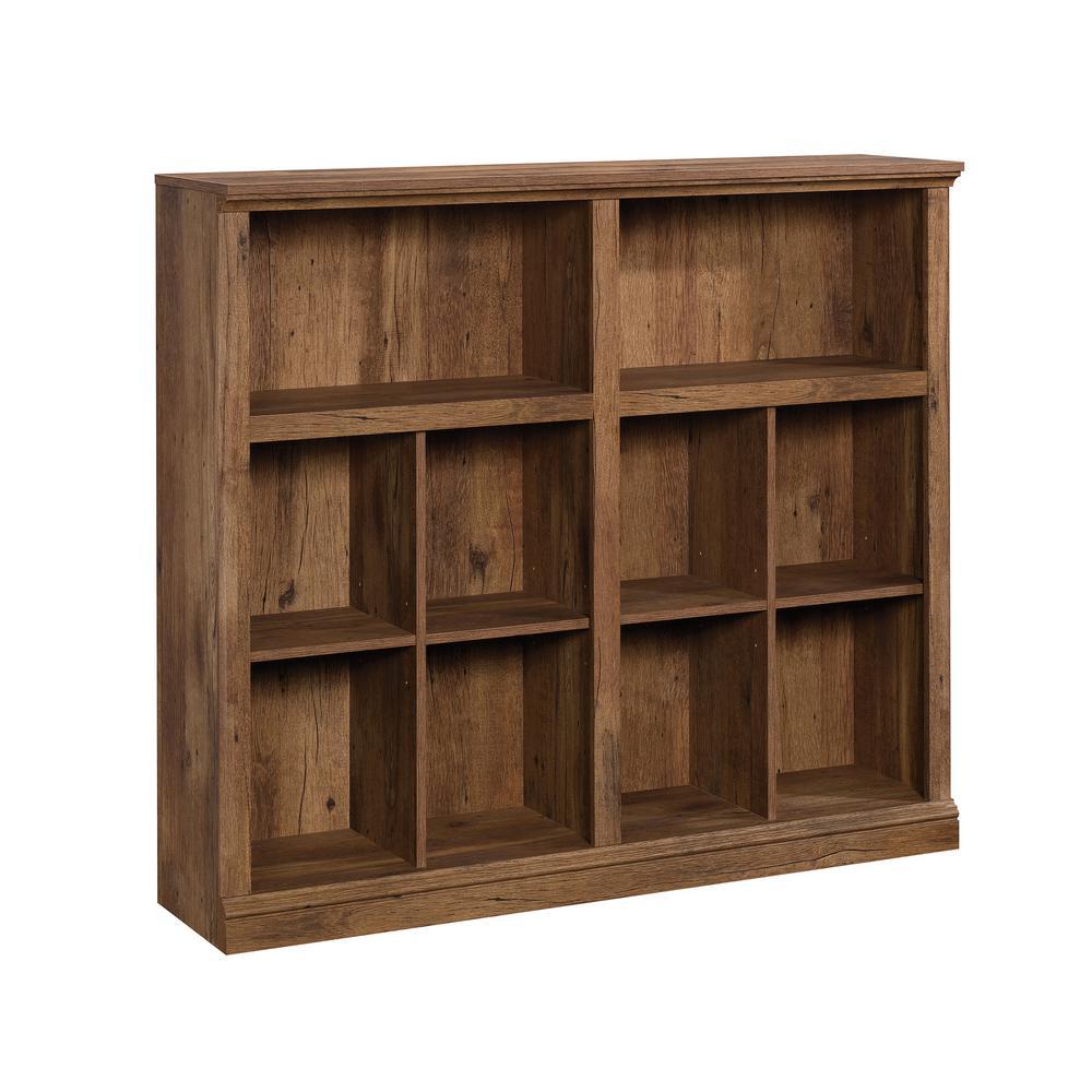 Horizontal Vintage Oak Bookcase