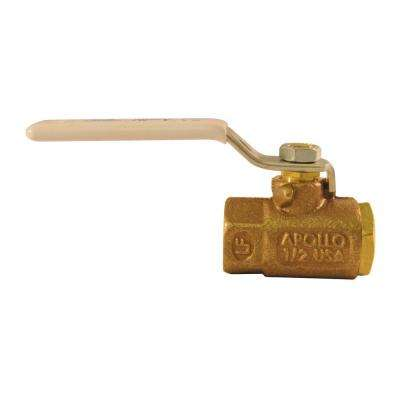 1/2 in. Bronze FPT x FPT Industrial Ball Valve Lead Free