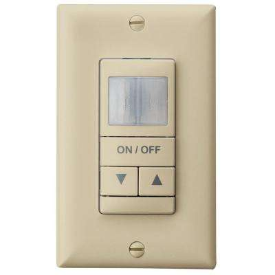 Single Pole Dual Detection Wall Switch Occupancy Sensor with Dimming, Ivory