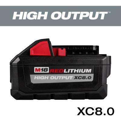 M18 18-Volt Lithium-Ion HIGH OUTPUT XC 8.0Ah Battery
