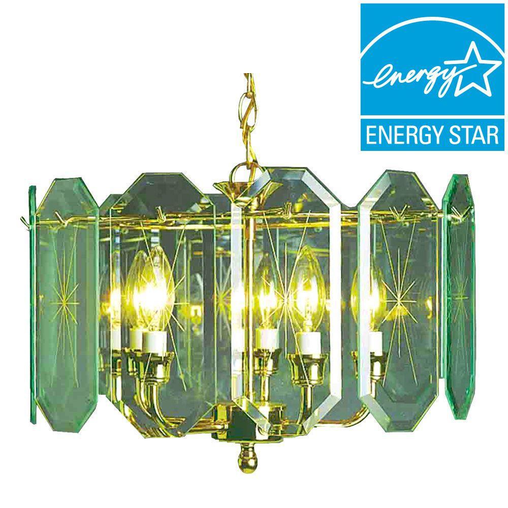 Lenor 5-Light Polish Brass Incandescent Ceiling Chandelier