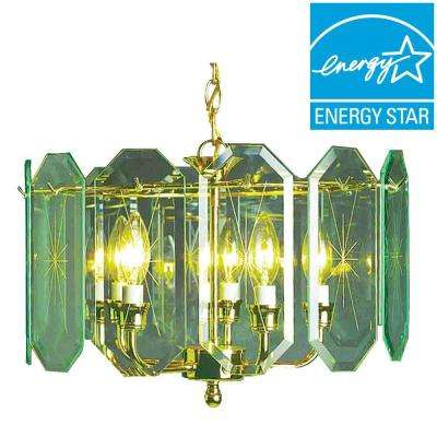 Imax brass hardware included chandeliers lighting the home lenor 5 light polish brass incandescent ceiling chandelier aloadofball Image collections