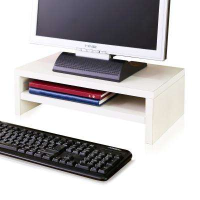 zBoard Eco White 2-Shelf Computer Monitor Stand