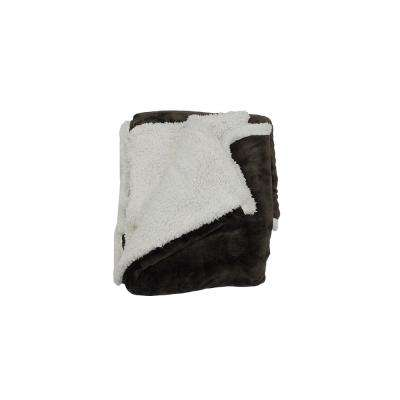 Andover Chocolate Sherpa Throw