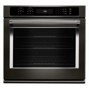 black stainless kitchenaid single electric wall ovens kose500ebs 64_300 kitchenaid 30 in single electric wall oven self cleaning with  at soozxer.org