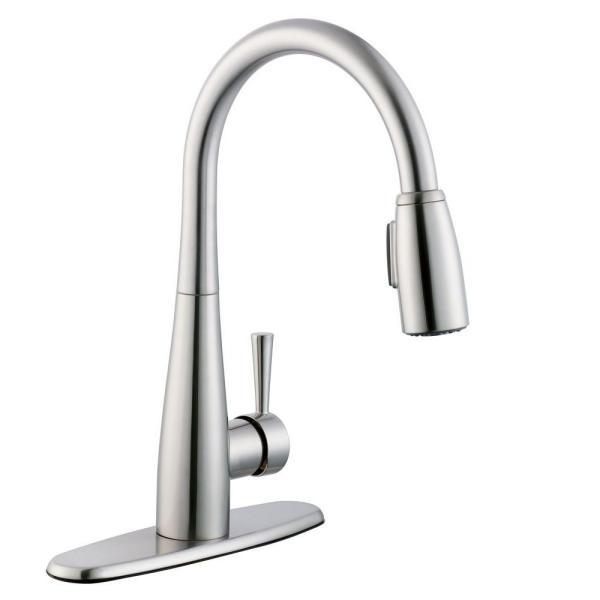 Glacier Bay 900 Series Single Handle Pull Down Sprayer Kitchen Faucet With Soap Dispenser In Stainless Steel 67070 3308d2 The Home Depot