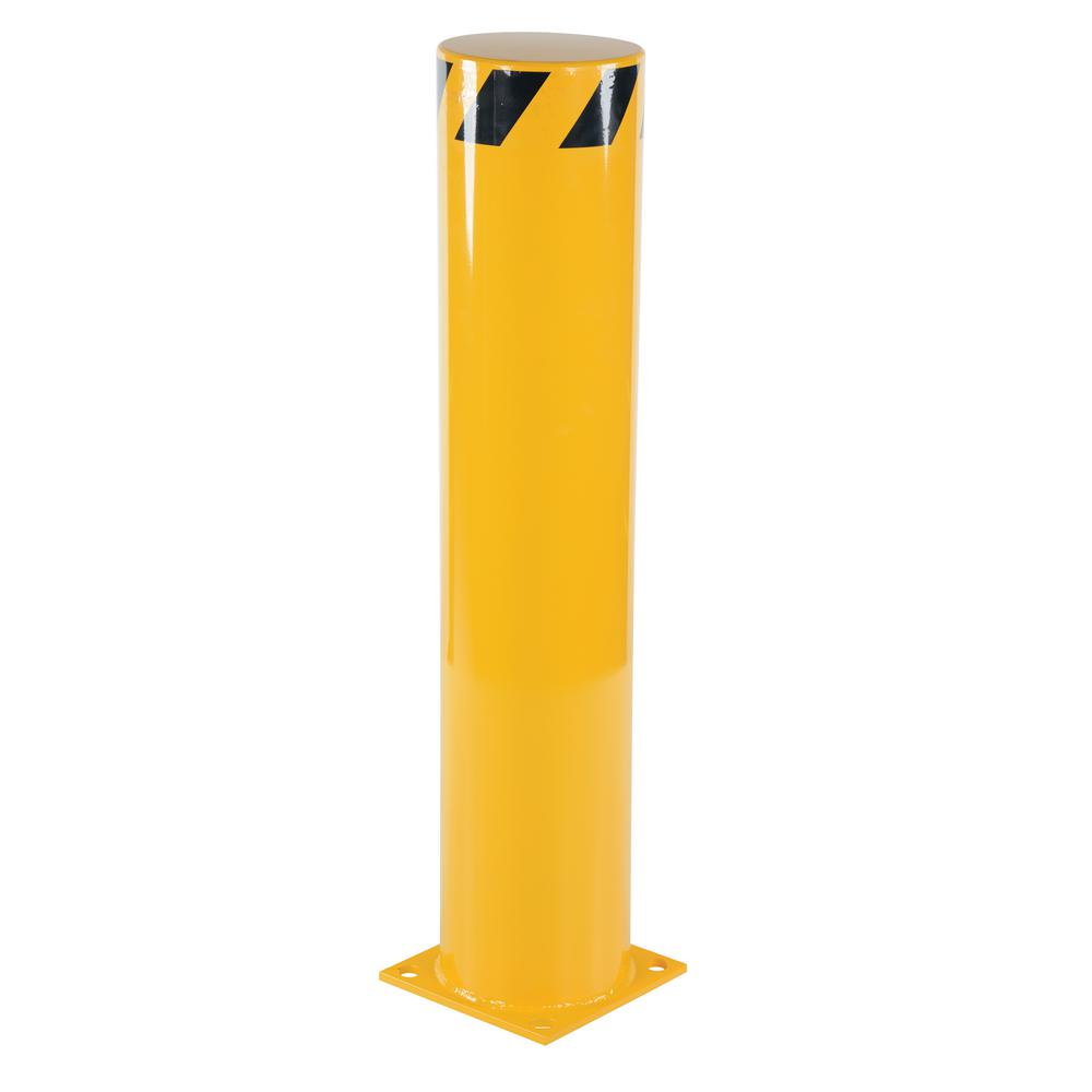 Vestil 42 in. x 8.5 in. Yellow Steel Pipe Safety Bollard