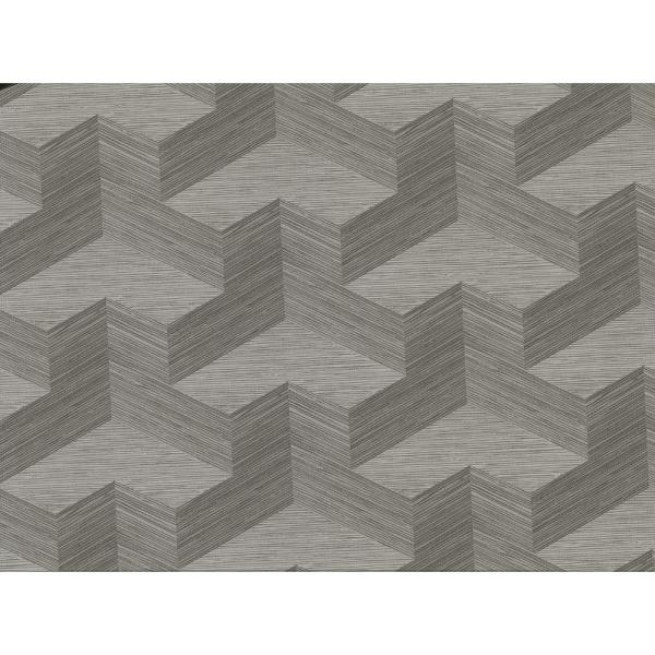 A-Street 8 in. x 10 in. Y Knot Grey Geometric Texture
