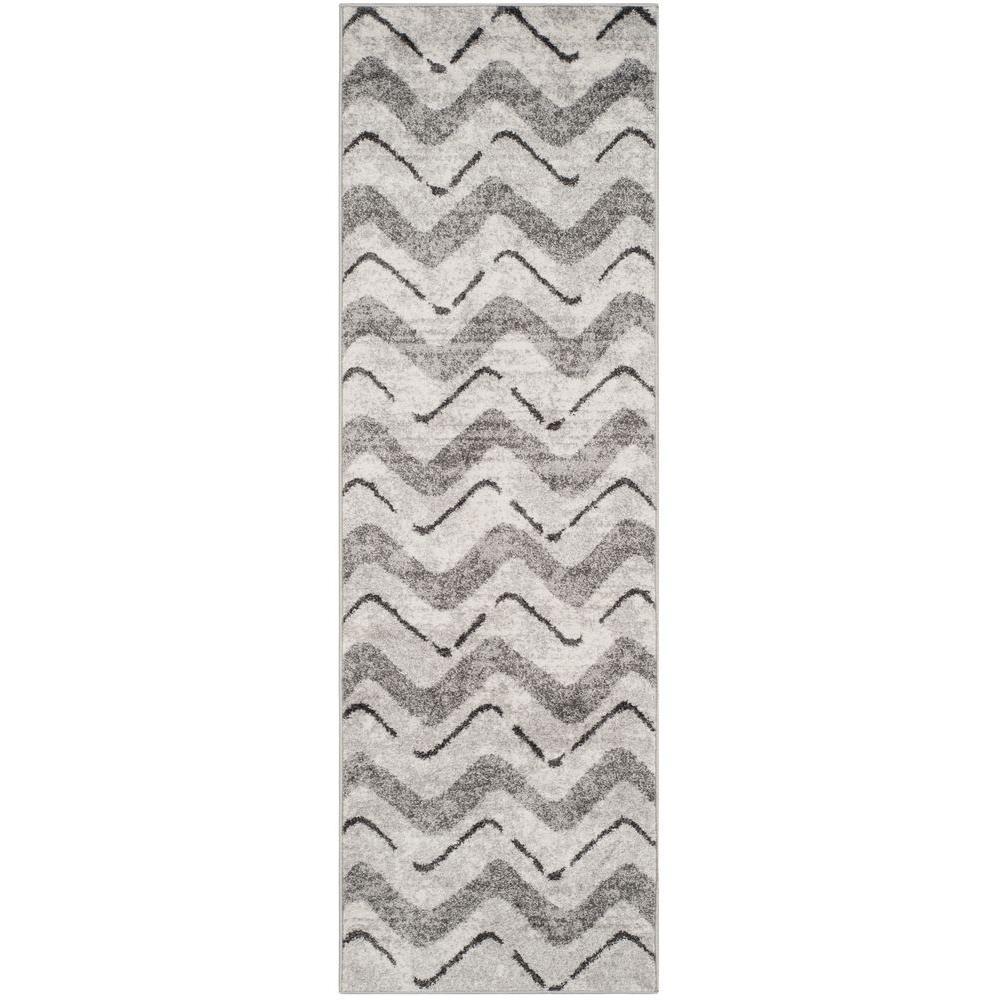 Safavieh Adirondack Silver/Charcoal 3 ft. x 12 ft. Runner Rug